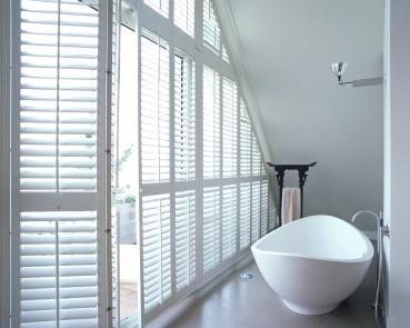 Shaped White Bathroom