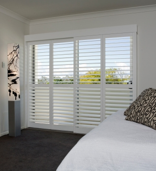 White Bedroom Sliders Closed